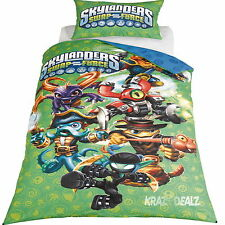 Skylanders Swap Force Multi Single Panel Duvet Cover Bed Set New Gift
