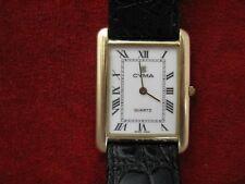 14K Yellow Gold Cyma  Rectangular Dress Watch