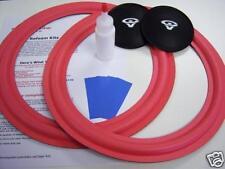 """Cerwin Vega LS-12 VS-120 - 12"""" Woofer Foam Speaker Kit w/ CV Logo Dust Caps!"""
