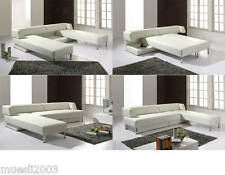 Voll-Leder Bett-Sofa Bett-Couch Schlafsofa Schlafcouch Eckschlafsofa 5117- oK
