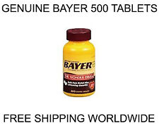 Genuine BAYER (500 Tablets) ASPIRIN 325mg - Pain Reliever