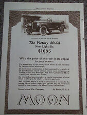 1919 Moon Automobile Victory Model New Light Six Advertisement