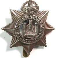 WW1 4th Volunteer Battalion The Devonshire Regiment Cap Badge Genuine