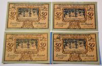 LAUCHSTEDT NOTGELD 4x 50 PFENNIG 1921 Komplette Serie (5785)