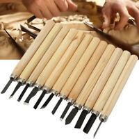 12 PCS Mini Wood Carving Hand Chisels Kit Set Detail Chisel Wood Gravers