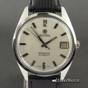 Vintage Roamer Stingray Roto44Date - Automatic Watch Stainless Steel 34,5 MM