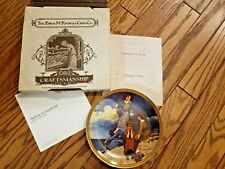 "Knowles Fine China ""Waiting On The Shoar"" Norman Rockwell Plate"