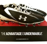 Under Armour Mens Nitro Low MC Cleats Black/White Size 13 1203465-011 NEW in Box