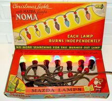 Vintage Noma Christmas Tree C-7 Lights Santa Claus Box Eames Mid-Century Modern