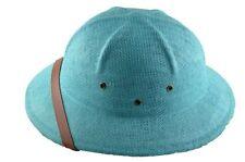 MM Summer 100% Straw Pith Helmet Postman Hat Teal