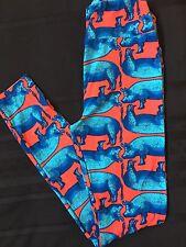 NWT LuLaRoe OS One Size Blue Red Pig Hog Leggings Unicorn