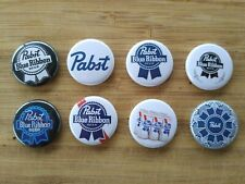"8 1"" Pabst Blue Ribbon PBR pinback badges buttons"