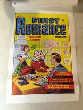 First Romance #2 Cover Art original cover proof 1949 w/Printer Invoice, Rare