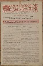 POLIZZA ASSICURATIVA CASSA NAZIONALE ASSICURAZIONE INFORTUNI INSURANCE MARCHE