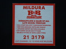 MILDURA B&B AUTO DISMANTLERS 10 KING AVE 2133179 WORKING MAN'S CLUB COASTER