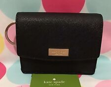 NEW Kate Spade Petty Laurel way Leather Key Case ID Wallet in Black $89