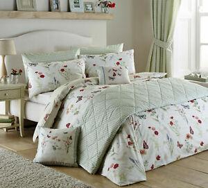 Dreams & Drapes Country Journal Floral Super King Duvet Cover Bedding Set (591)
