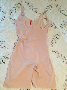 Spanx Thinstincts Open-Bust Mid-Thigh Soft Nude Bodysuit  Size 2X/2TG NWOT