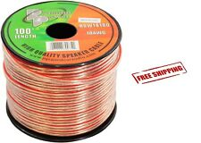 100ft 18 GA Gauge Speaker Wire Audio Car Cable Stereo Amplifier Surround Sound