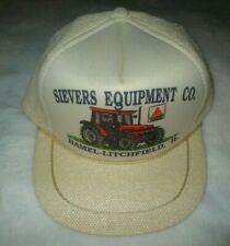 Vtg AGCO Tractor Snapback Trucker Hat/Cap Sievers Equipment Co Allis Chalmers