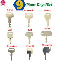 9 Key Plant Master Excavator Set / Plant / Digger / Dumper + FREE EXPRESS POST