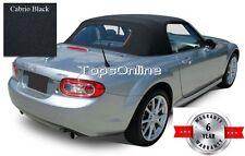 2006-15 Mazda MX5 Miata Factory Style Convertible Top & Heated Glass Black Vinyl