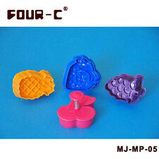 FOUR-C Fruit Plunger Cutter Set Fondant Biscuit Cutter Cake Decorating Tools