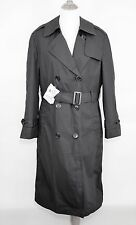 DSCP ALL WEATHER LINED GARRISON Army Military Black Trench Coat - WOMEN'S 10