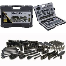 Stanley 201 Pcs Mechanics Tool Set Universal SAE Metric Ratchet Socket Kit Case