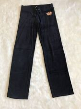Juicy Couture Navy Blue Straight Leg Velour Pants Size Small