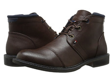 TOMMY HILFIGER SANTIAGOBRMLL SANTIAGO Mn's (M) Browm Faux-Leather Casual Boots