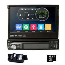 "7"" Flip Out  Car Radio 1DIN Stereo CD DVD MP3 GPS Navigation System with Camera"