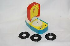 RARE 1970's Mighty Tiny Worlds Smallest Record Player, with 3 Records