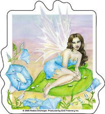 NEDDA Blue Fairy On Green Leaf Sticker NEW OFFICIAL MERCHANDISE
