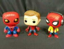 Spider-man BOBBLE HEADS Lot of 3 Pre-owned in Perfect Condition