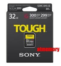 Sony 32GB SDHC Card TOUGH SF-G32T UHS-II 4K V90 300MB/s Read 299MB/s Write