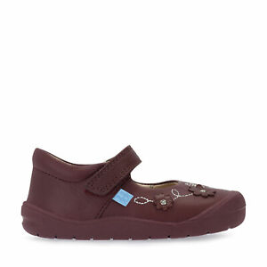 Start-Rite Flex, Wine leather girls riptape first walking shoes