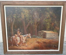 Bill Bender, famous Western artist, Returning Home, oil on board, 1973