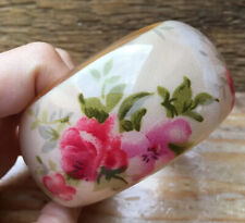 Retro Chunky Floral Plastic Bangle/Bracelet/Big/Kitsch/Pink Rose Print