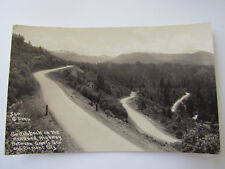 c1910 RPPC Switchback on the Redwood Highway Granite Pass Cresent City Del Norte