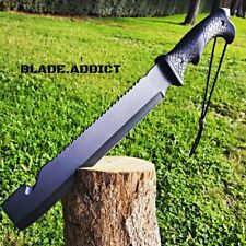 "16"" HUNTING SURVIVAL MACHETE Military FULL TANG Fixed Blade Knife SWORD BOWIE"