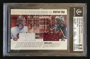 2001-02 BAP Ultimate Game-Used Jersey Journey Patrick Roy BGS 8.5  3 of 50 !!