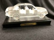 HOFBAUER LEAD CRYSTAL MERCEDES 190E WITH WOOD STAND