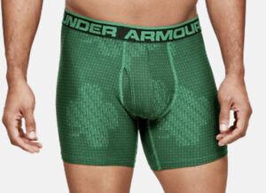 Under Armour Mens Boxers Original Series Printed Boxerjock Green UA 1307038 305