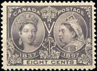 1897 Mint NH Canada F-VF Scott #56 8c Diamond Jubilee Stamp