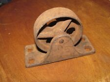 Antique Victorian Iron Industrial Cart Caster, 2 7/8 Inch Wheel
