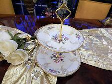 edle  Etagere 2-stufig Rosenthal Sanssouci Diplomat Poliergoldkante