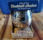 """Stainless Steel Football Shaped Cocktail Shaker W/ """"kickoff Tee"""" Stand New!"""