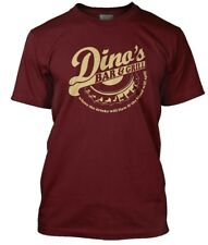 Thin Lizzy Inspired Dinos Bar and Grill Men's T-shirt Large Cardinal Red