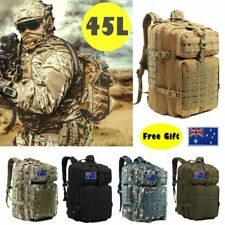 45L Outdoor Military Rucksack Tactical Backpack Camouflage Hiking Camping Bag